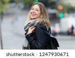 portrait of attractive smiling... | Shutterstock . vector #1247930671