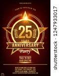 25 anniversary  elegant gold... | Shutterstock .eps vector #1247933017