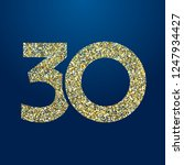 30 th years old logotype.... | Shutterstock .eps vector #1247934427