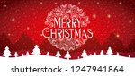 merry christmas card | Shutterstock .eps vector #1247941864