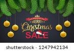 christmas sale banner design... | Shutterstock .eps vector #1247942134