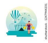 circus fun fair | Shutterstock .eps vector #1247944231