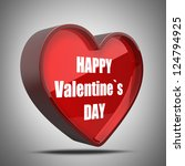 3d heart happy valentines day.... | Shutterstock . vector #124794925