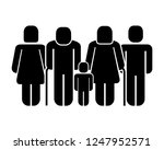 family figure with boy... | Shutterstock .eps vector #1247952571