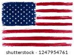 grunge american flag.vector... | Shutterstock .eps vector #1247954761