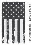 grunge american flag.vector... | Shutterstock .eps vector #1247954764