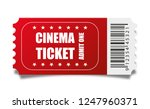 vector red cinema ticket... | Shutterstock .eps vector #1247960371