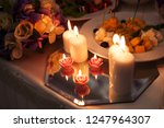 festive candles on the wedding... | Shutterstock . vector #1247964307