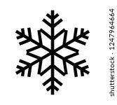 snowflake icon. beautiful six...   Shutterstock .eps vector #1247964664
