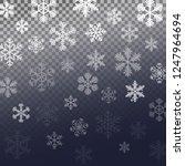 winter snowfall pattern.... | Shutterstock .eps vector #1247964694