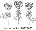 vector hand drawing valentines...   Shutterstock .eps vector #124797475
