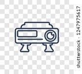 hd movie icon. trendy linear hd ... | Shutterstock .eps vector #1247975617