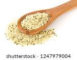 heap of raw  organic hemp seeds ... | Shutterstock . vector #1247979004