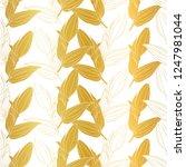 vector vibrant golden lilium... | Shutterstock .eps vector #1247981044