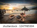 sunset  views around curacao a... | Shutterstock . vector #1247985304