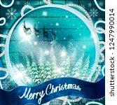 christmas illustration of santa ... | Shutterstock .eps vector #1247990014