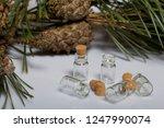 glass bottles with corks. for... | Shutterstock . vector #1247990074