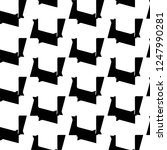 abstract vector monochrome... | Shutterstock .eps vector #1247990281