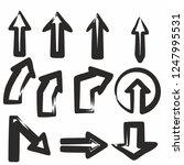 hand draw style arrows black... | Shutterstock .eps vector #1247995531