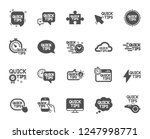 quick tips icons. set of... | Shutterstock .eps vector #1247998771