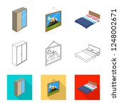 vector design of bedroom and... | Shutterstock .eps vector #1248002671
