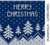 winter sweater design with... | Shutterstock .eps vector #1248014881