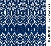 winter sweater fairisle design. ... | Shutterstock .eps vector #1248014911