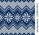 winter sweater fairisle design. ... | Shutterstock .eps vector #1248014917