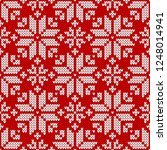 winter sweater fairisle design. ... | Shutterstock .eps vector #1248014941