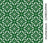 winter sweater fairisle design. ... | Shutterstock .eps vector #1248014944