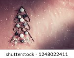 christmas decorations over... | Shutterstock . vector #1248022411