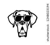 great dane dog wearing... | Shutterstock .eps vector #1248023194