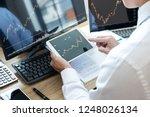 stock exchange market concept ... | Shutterstock . vector #1248026134