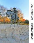 bronze cowboy pioneer plaza ... | Shutterstock . vector #1248030754