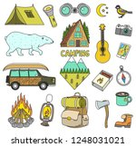 set of cute camping elements....   Shutterstock .eps vector #1248031021