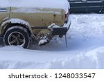 snow covered cars in the winter | Shutterstock . vector #1248033547