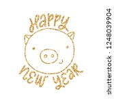vector happy new year greeting... | Shutterstock .eps vector #1248039904