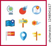 9 geography icon. vector... | Shutterstock .eps vector #1248041617