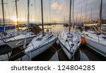 Sailboats Dan Sunrise At...