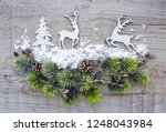 christmas composition with... | Shutterstock . vector #1248043984