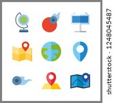 9 geography icon. vector... | Shutterstock .eps vector #1248045487
