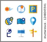 9 geography icon. vector... | Shutterstock .eps vector #1248045541