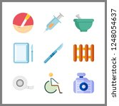 9 therapy icon. vector...   Shutterstock .eps vector #1248054637