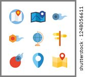 9 geography icon. vector... | Shutterstock .eps vector #1248056611