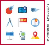 9 geography icon. vector... | Shutterstock .eps vector #1248061141