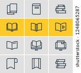 illustration of 12 education... | Shutterstock . vector #1248065287