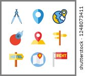 9 geography icon. vector... | Shutterstock .eps vector #1248073411