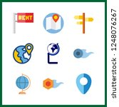 9 geography icon. vector... | Shutterstock .eps vector #1248076267
