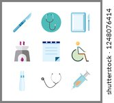 9 therapy icon. vector...   Shutterstock .eps vector #1248076414