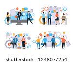 business relationships.... | Shutterstock .eps vector #1248077254